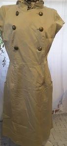 Maggy London khaki tan short sleeve dress size 12
